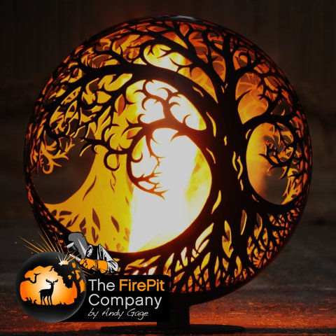 Fire Pits - The FirePit Company - Tree Of Life Ellipse Firepit