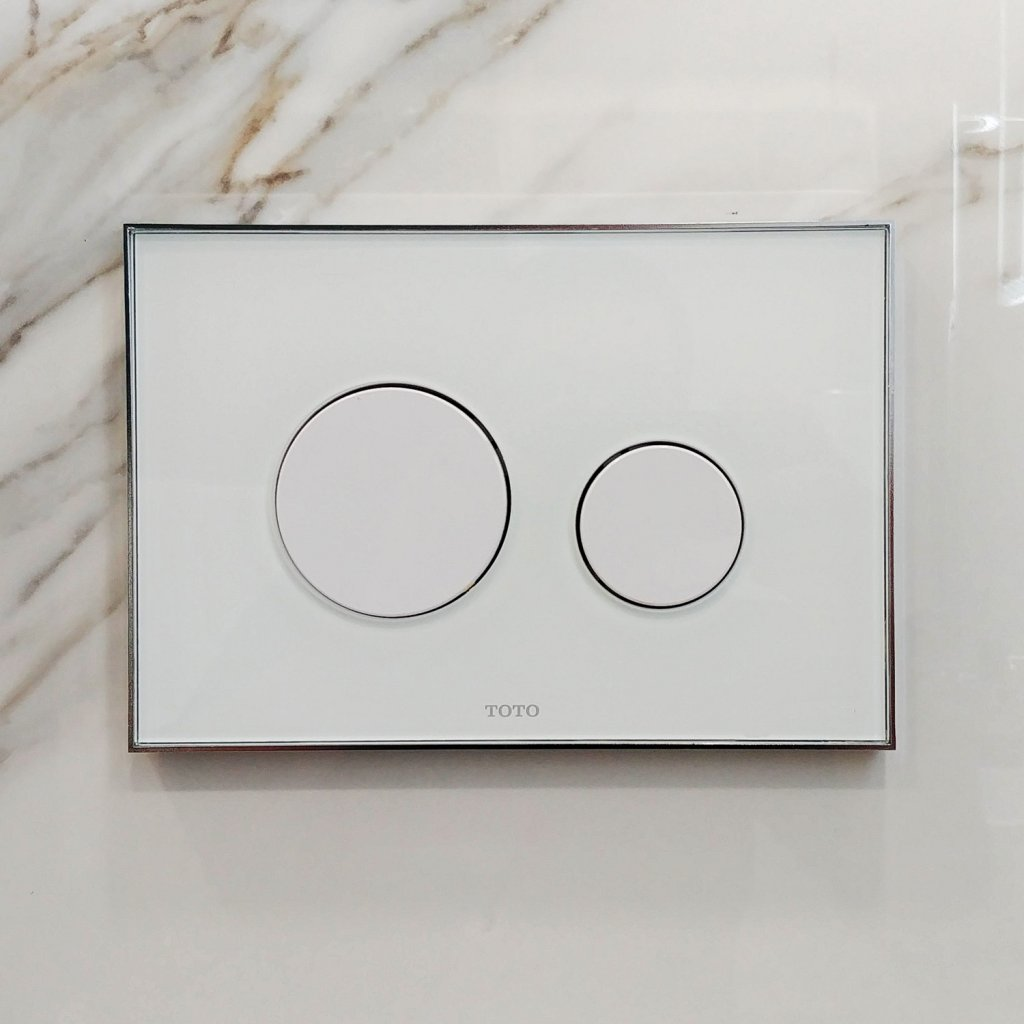 TOTO Toilets - Glass Flush Plate