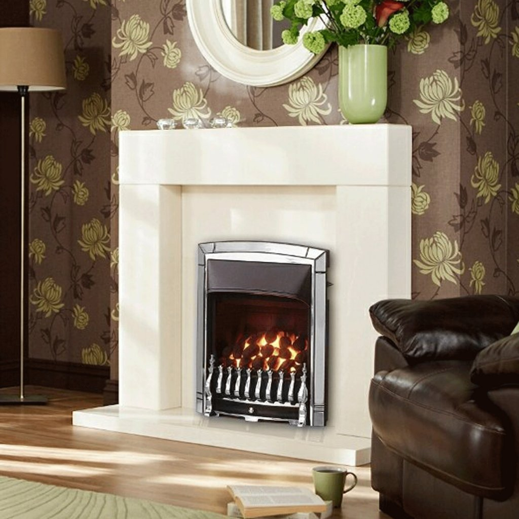 Valor Dream Full Depth Convector Chrome Inset Gas Fire
