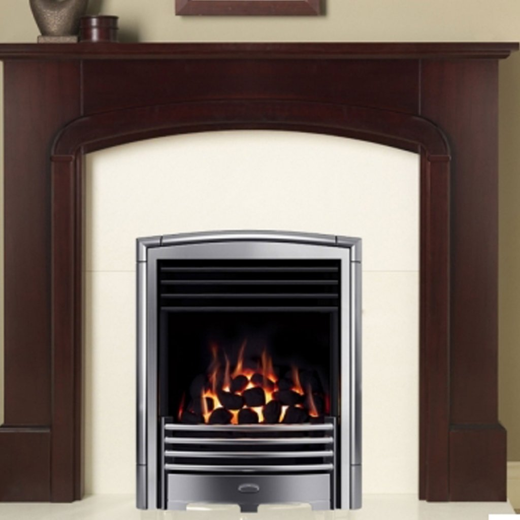 Valor Petrus Full Depth Homeflame Silver Chrome Inset Gas Fire