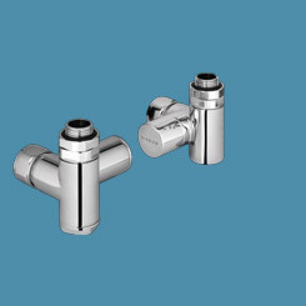 Bisque Radiator Valves - Duel Fuel Manual Left Hand Flow - Set UL
