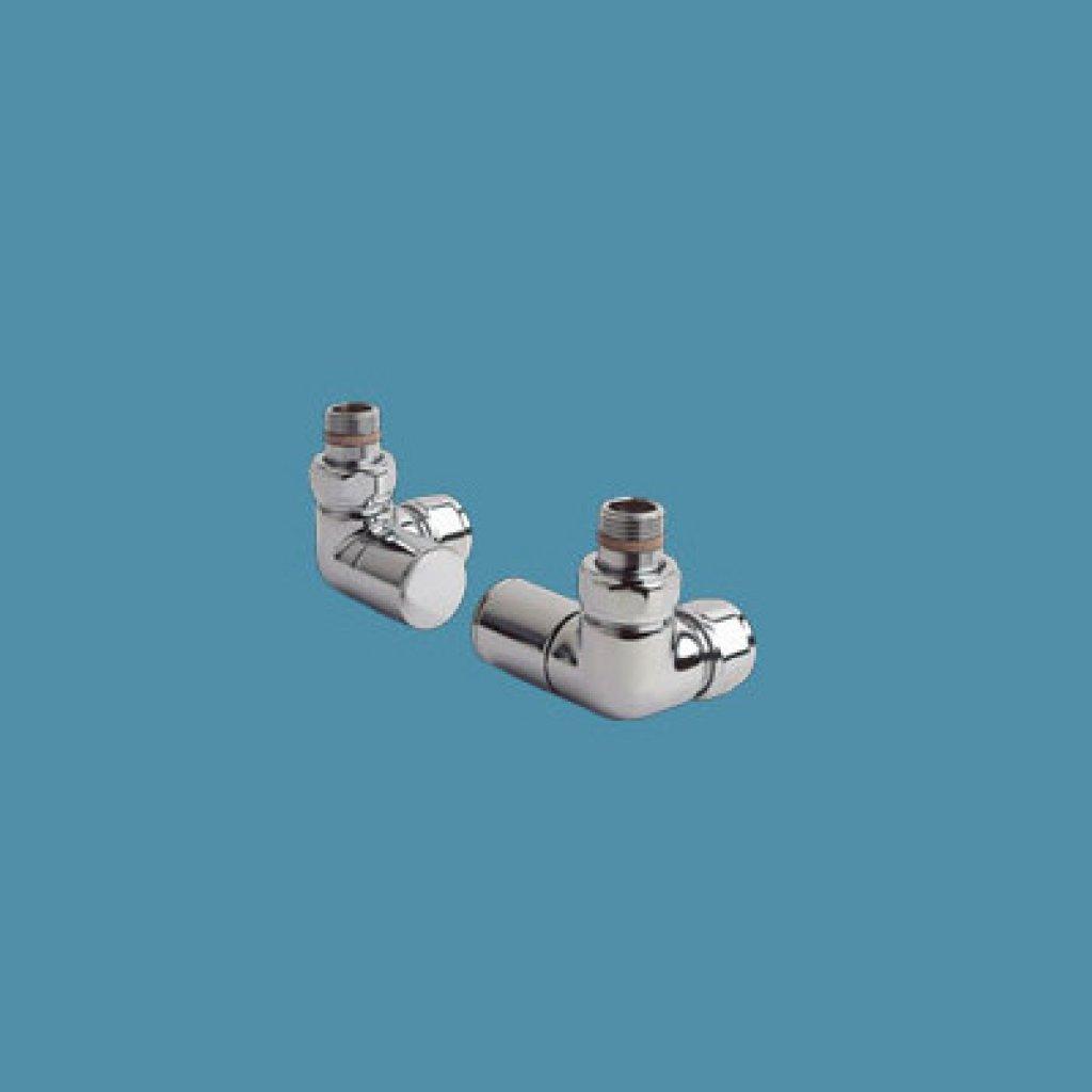 Bisque Radiator Valves - Angled Manual Valve Set Z
