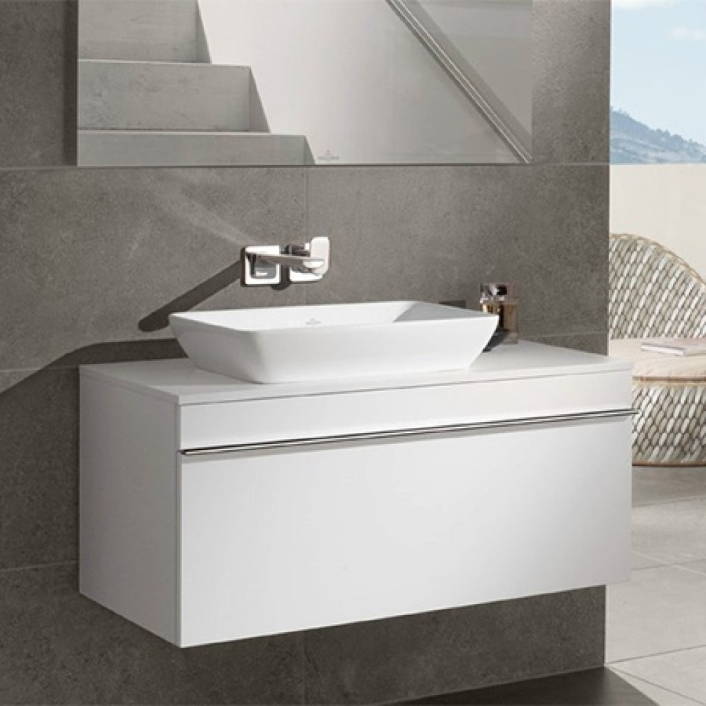 Villeroy & Boch Venticello Semi Recessed Basin & 1000mm Vanity Unit Bundle