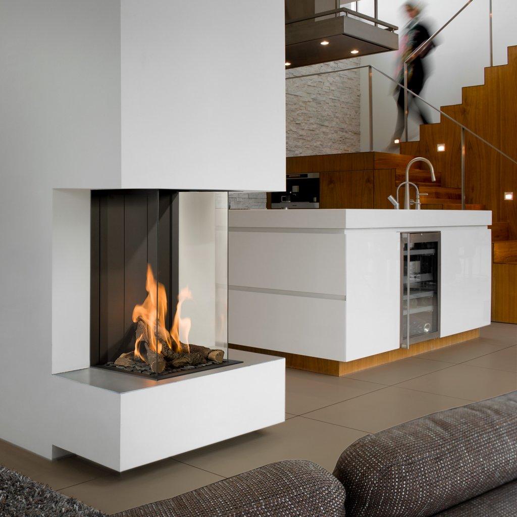 Lennox 3 Sided Propane Fireplace: Bellfires View Bell 3 Vertical