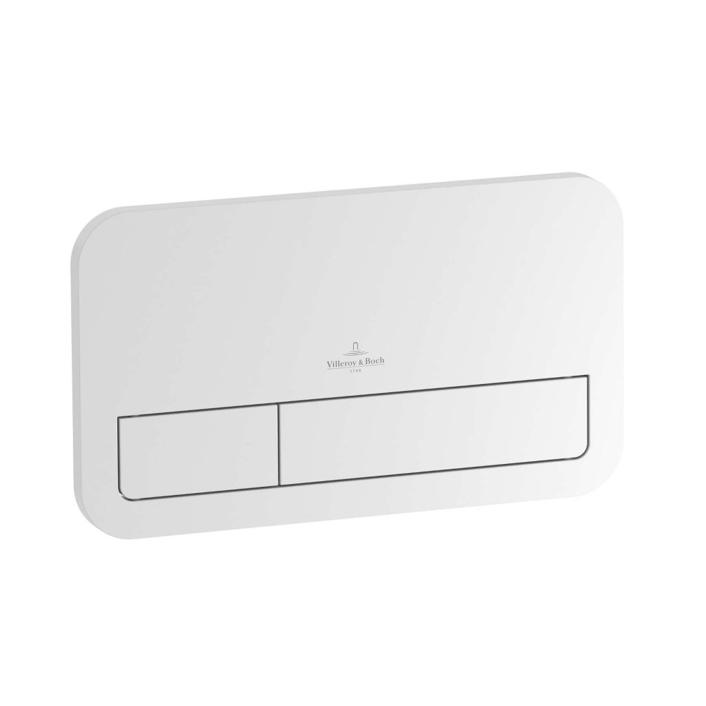 Villeroy and Boch - Viconnect Flush Plate, High Quality Plastic, in White, Chrome and Brushed Chrome Finishes
