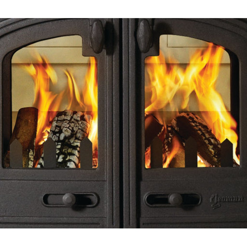 yeoman devon double sided multi fuel stove